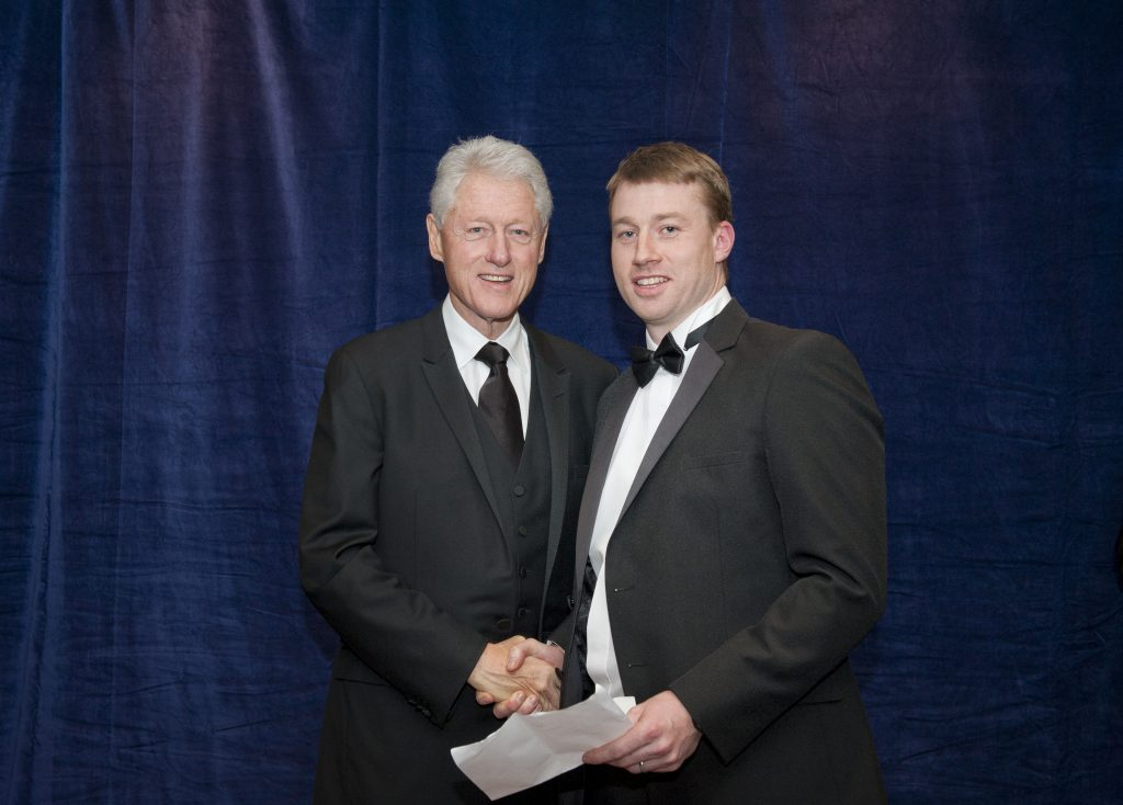 Dr. Robert Bowe meeting Bill Clinton in 2012